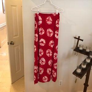 Red Elastic Tye Dye Skirt